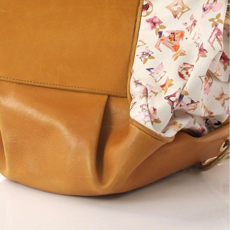 Louis Vuitton Jamais Handbag Limited Edition Aquarelle Monogram Canvas For Sale 6
