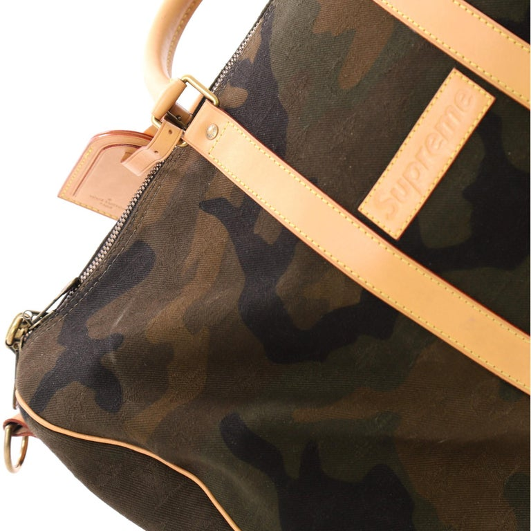 54359ff39e06 Louis Vuitton Keepall Bandouliere Bag Limited Edition Supreme Camouflage  Canvas For Sale 2