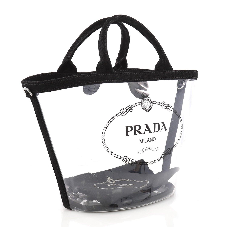 fda672158783 Prada Logo Tote PVC, crafted in clear PVC at 1stdibs