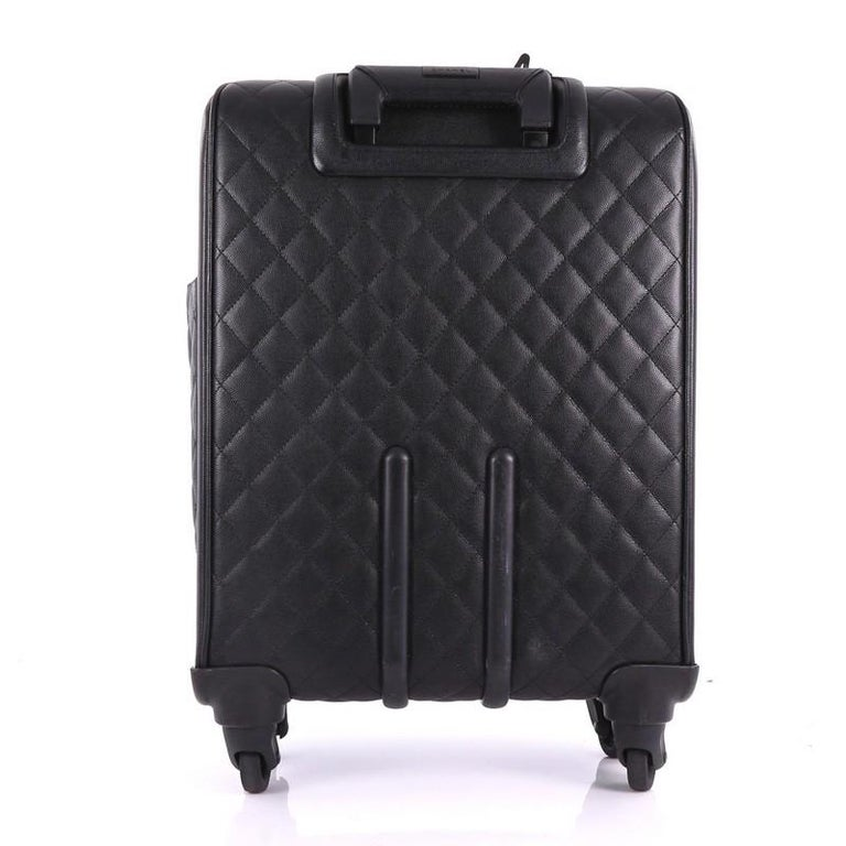 9f30571edc60 Chanel Coco Case Rolling Trolley Quilted Caviar In Good Condition For Sale  In New York,