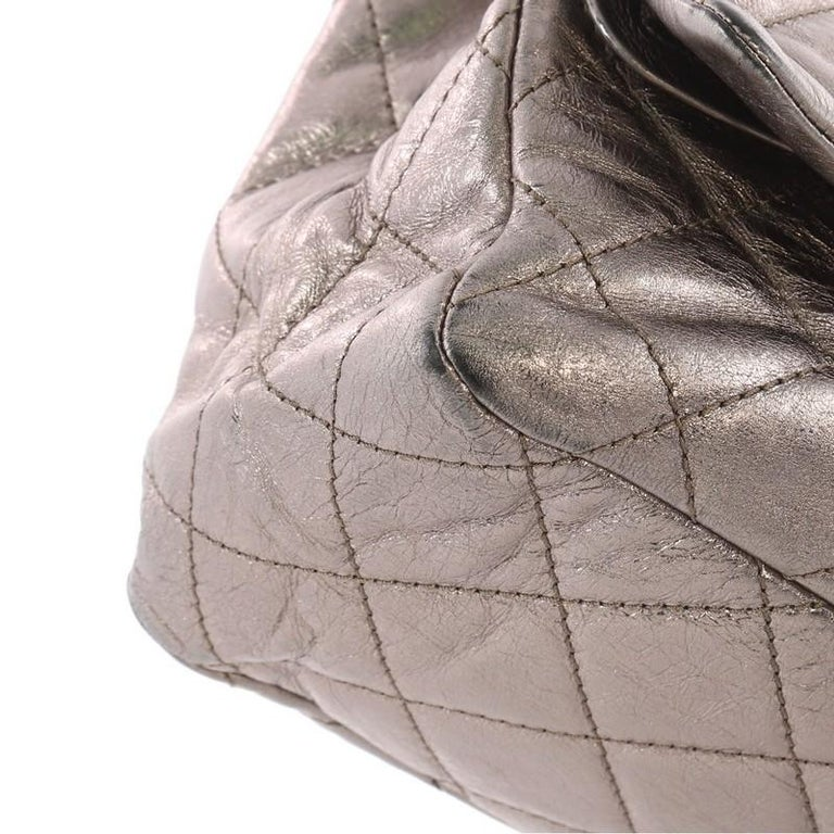 b2ea659d2133 Chanel Reissue 2.55 Handbag Quilted Metallic Aged Calfskin 228 For Sale 2