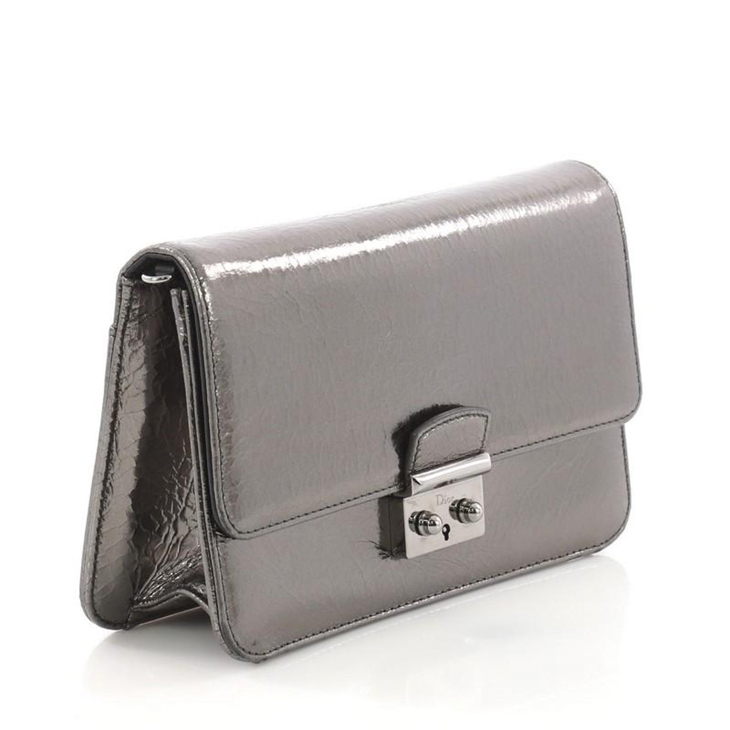d1a609ef35 Christian Dior Miss Dior Promenade Pouch Crinkled Patent Large at 1stdibs