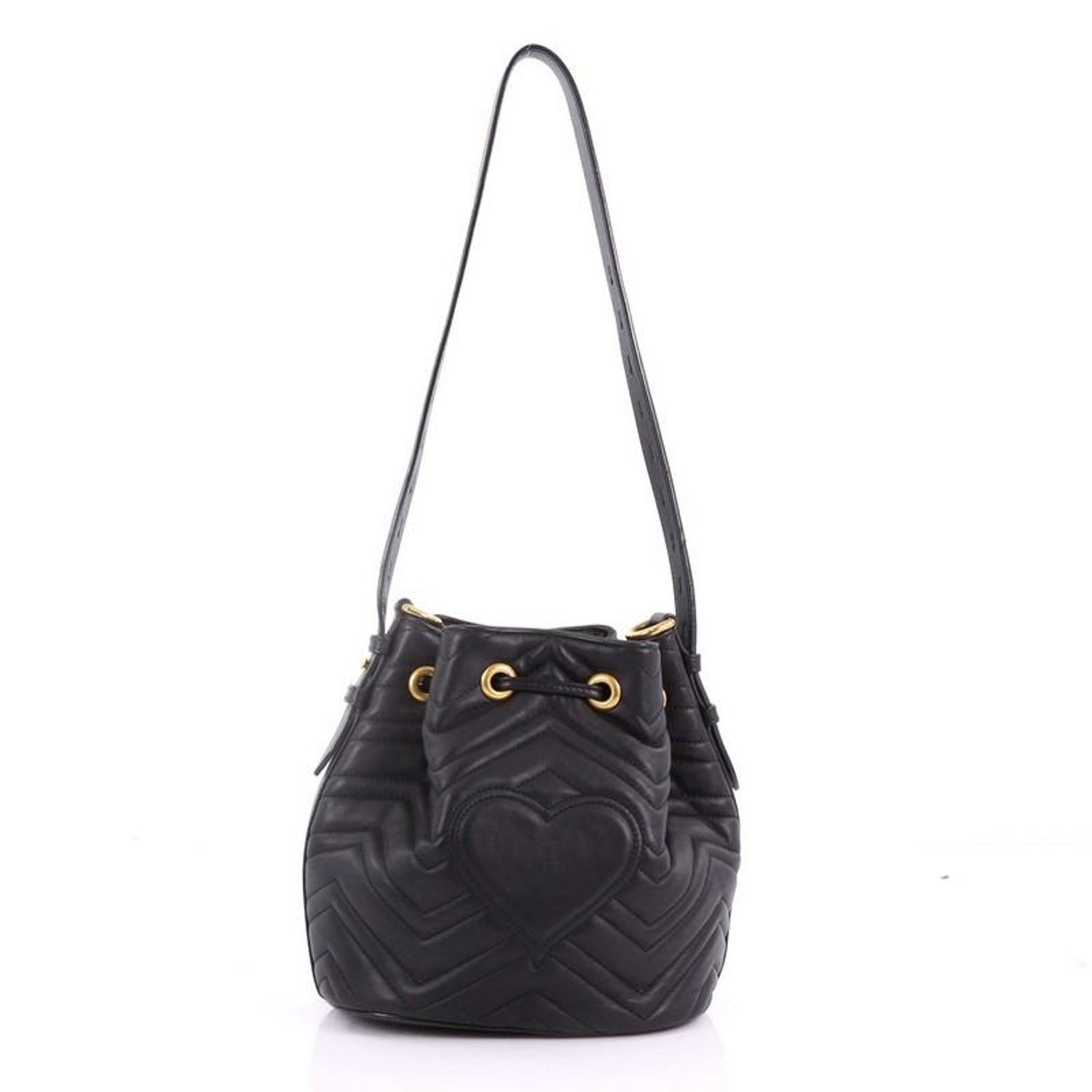 c0386c979 Gucci GG Marmont Bucket Bag Matelasse Leather Small at 1stdibs