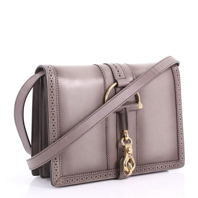 d0118ba81b86 Gucci Duilio Brogue Shoulder Bag Leather Medium at 1stdibs
