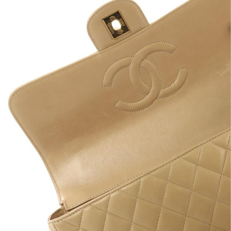 d9e021442a76 Chanel Vintage Twin Top Handle Flap Bag Quilted Lambskin Medium For Sale 3