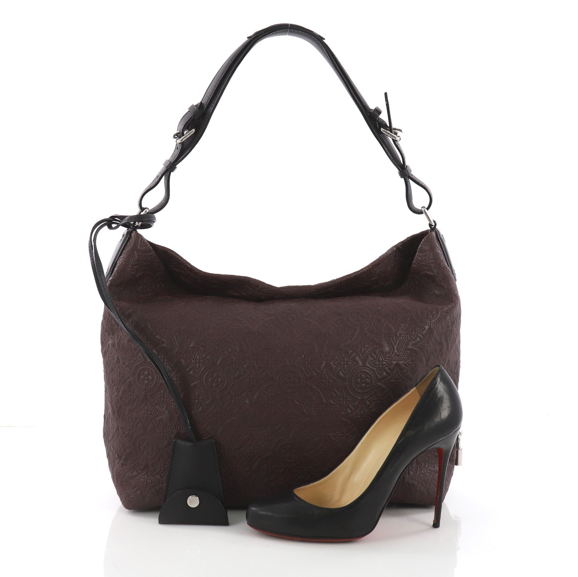 e168fad723bf best Louis Vuitton Brown Leather Hobo Bag image collection