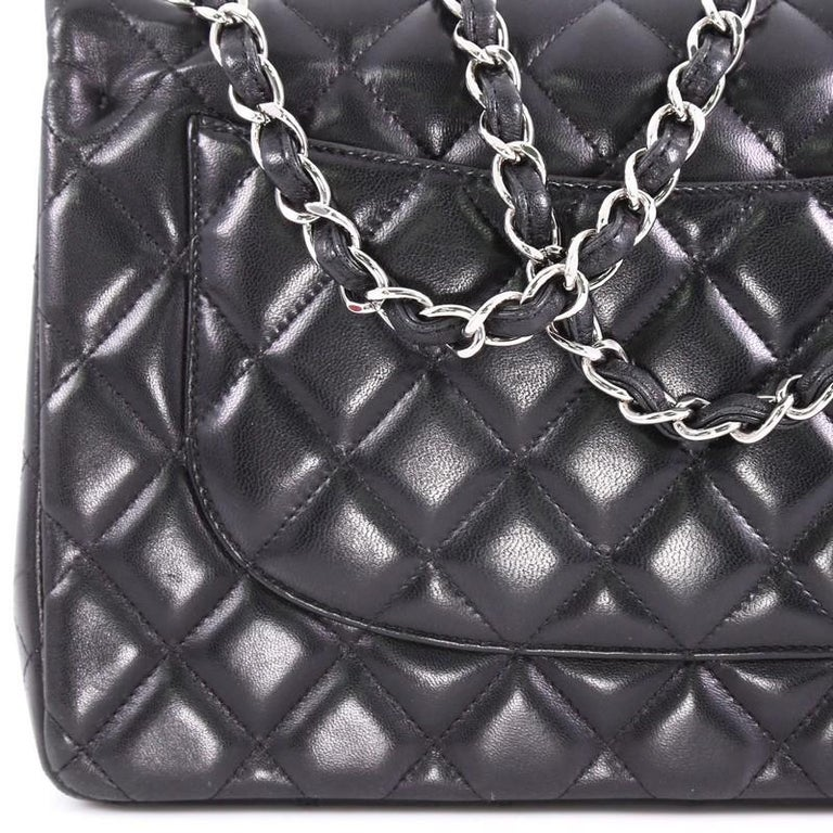 Chanel Classic Double Flap Bag Quilted Lambskin Jumbo For 3