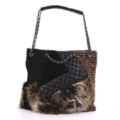 Chanel Karl s Fantasy Cabas Tote Fur and Quilted Leather 7e97ae61920b3