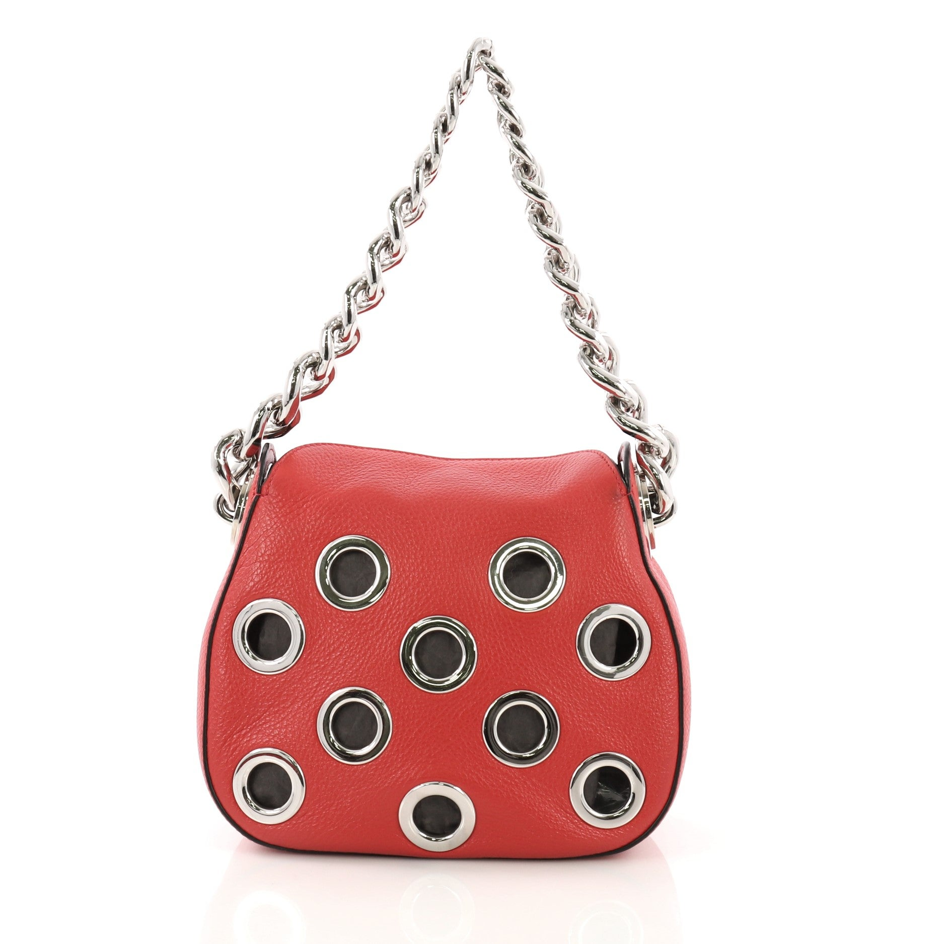 f897a4c39a Prada Grommet Chain Hobo Vitello Daino Small For Sale at 1stdibs