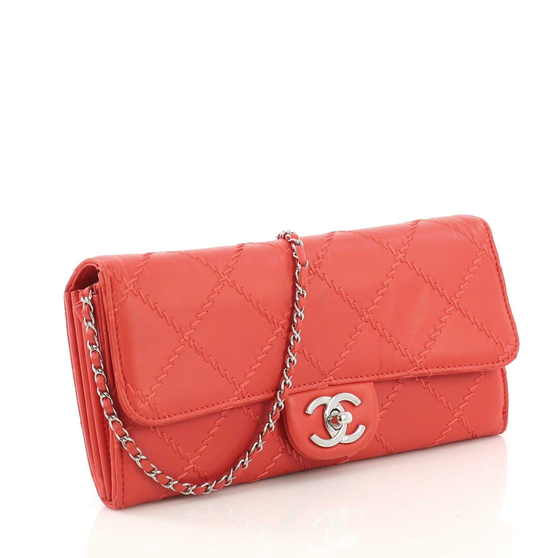 53dee0071595 Chanel Ultimate Stitch Wallet on Chain Quilted Lambskin East West at 1stdibs