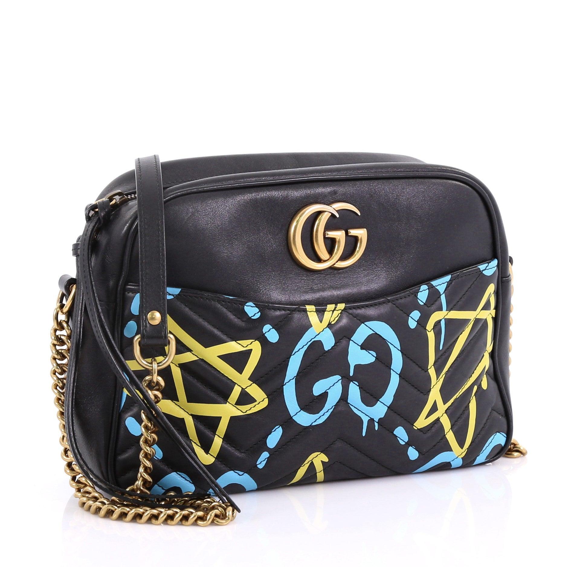 e63b88c27476c8 Gucci GG Marmont Shoulder Bag GucciGhost Matelasse Leather Medium at 1stdibs