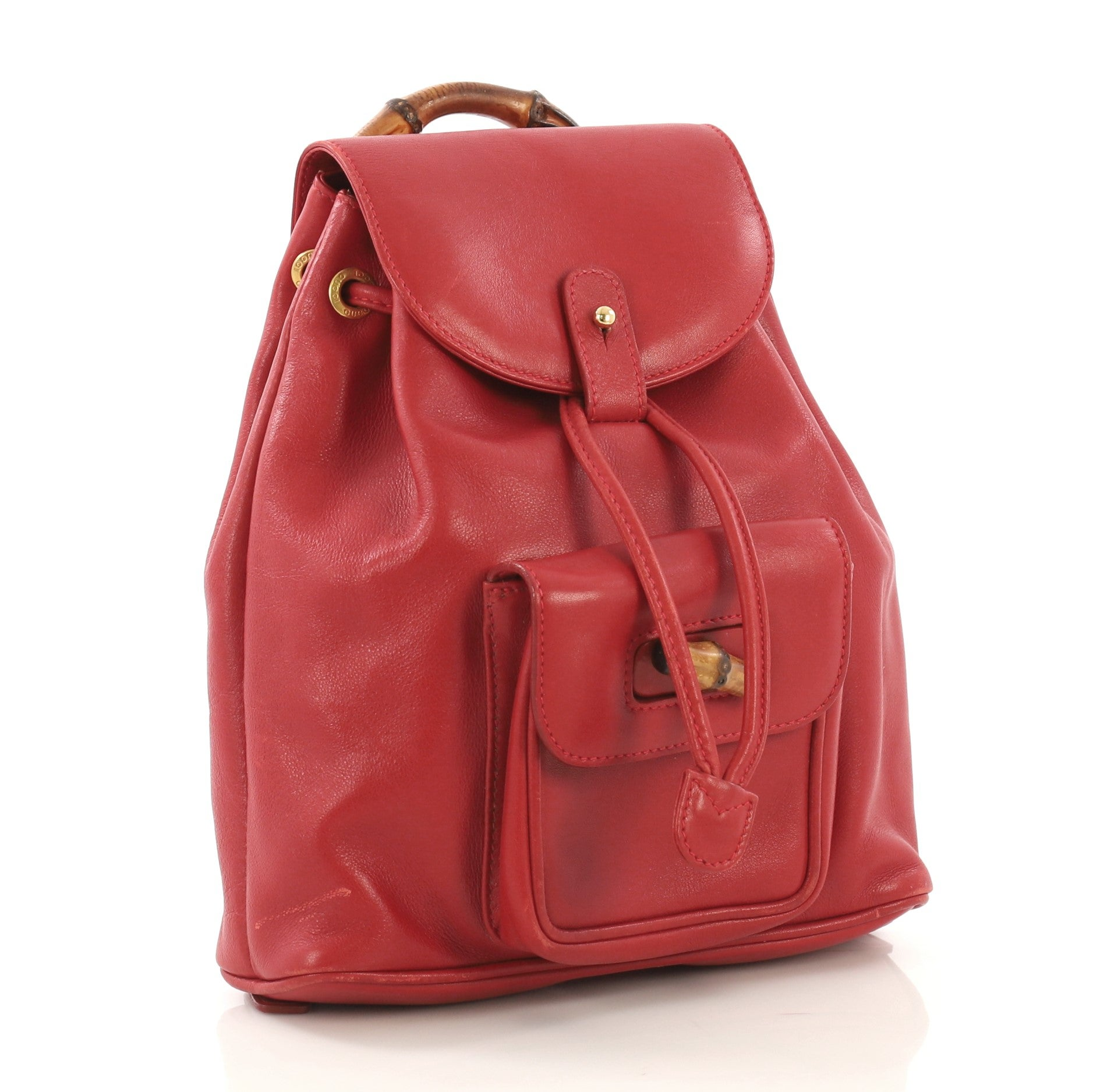 16a086b63 Red Leather Mini Backpack | The Shred Centre