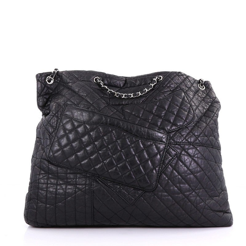 bc8b04dc98efbf Chanel Karl's Fantasy Cabas Tote Quilted Leather at 1stdibs