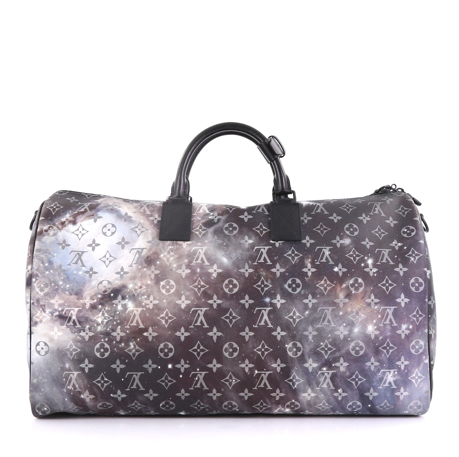 0b6c89ee3380 Louis Vuitton Keepall Bandouliere Bag Limited Edition Monogram Galaxy Canvas  50 For Sale at 1stdibs