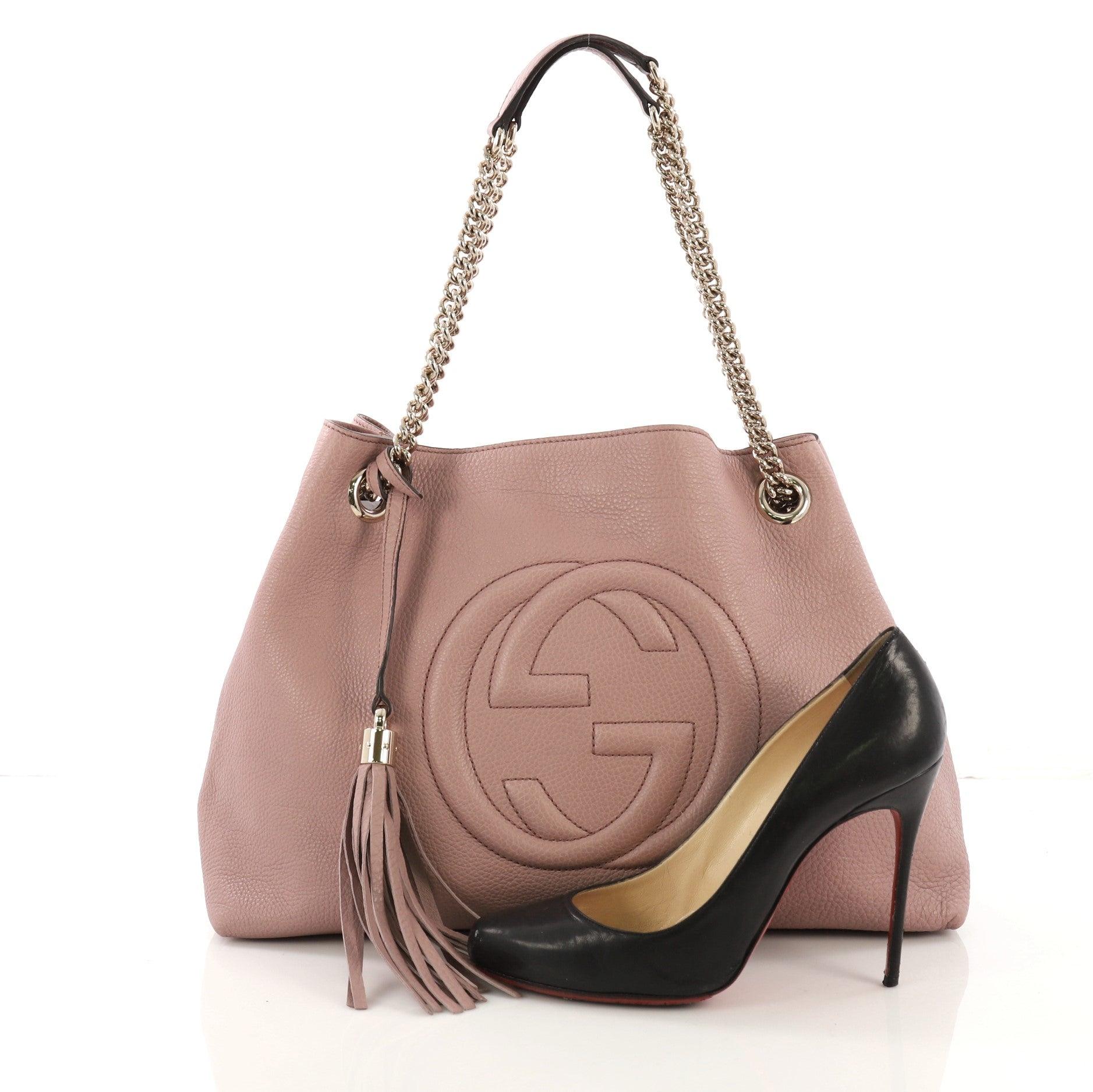 23258ebd2207cf Gucci Soho Chain Strap Shoulder Bag Leather Medium at 1stdibs
