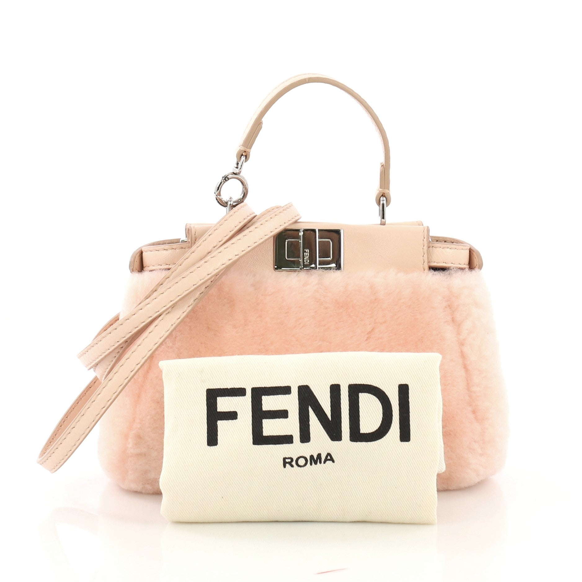 111e44cd36 Fendi Peekaboo Bag Shearling Micro