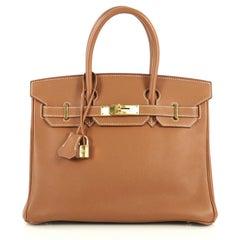 Hermes Birkin Handbag Gold Togo with Gold Hardware 30