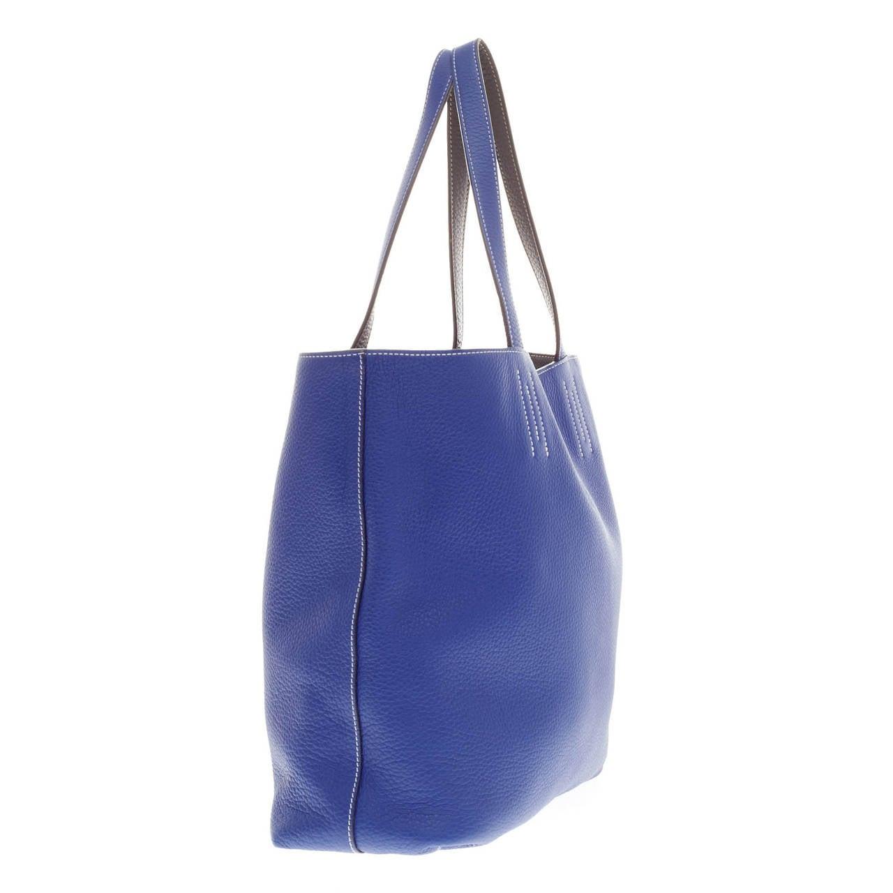 hermes Double Sens large sapphire blue/sapphire blue