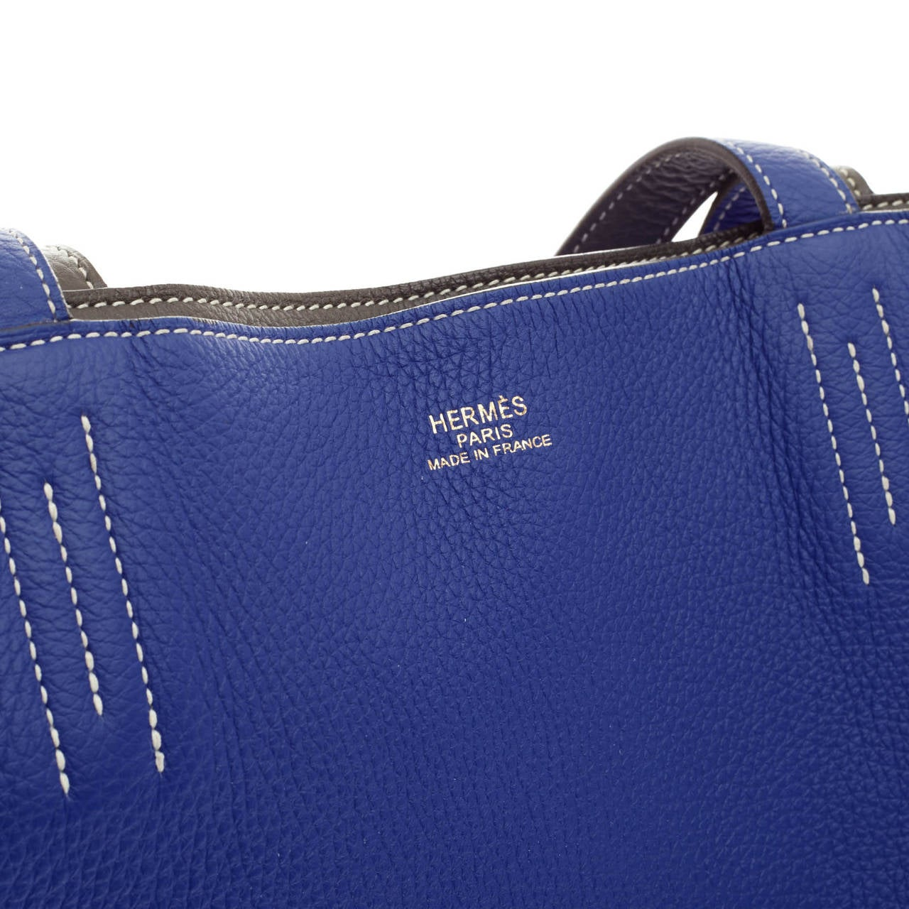 cheap hermes bags uk - hermes blue leather handbag double sens