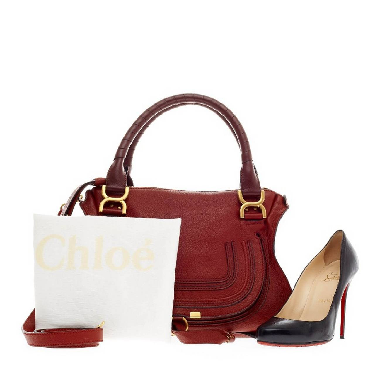 knock off chloe bags - Chloe Marcie Top Handle Bag Leather Small at 1stdibs