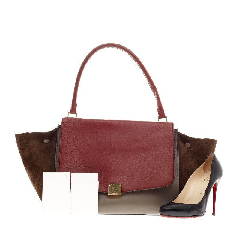 where to buy celine handbags online - celine tricolor trapeze
