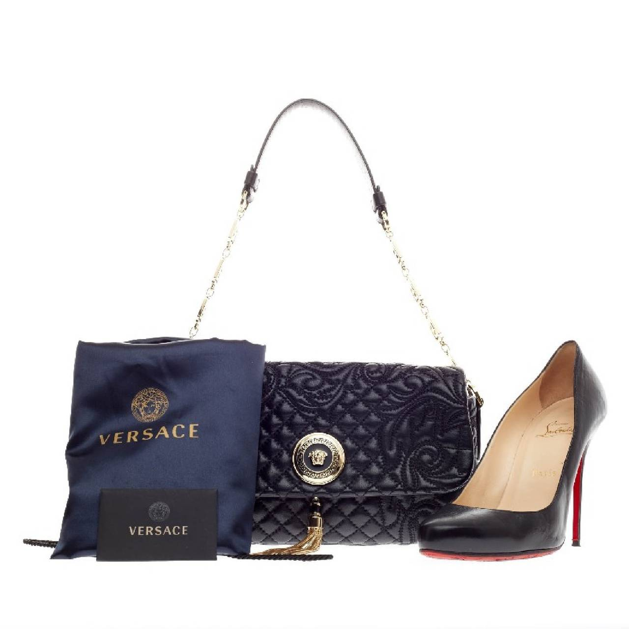 This Authentic Versace Vanitas Medea Bag Quilted Barocco Is Perfect For An Evening Constructed