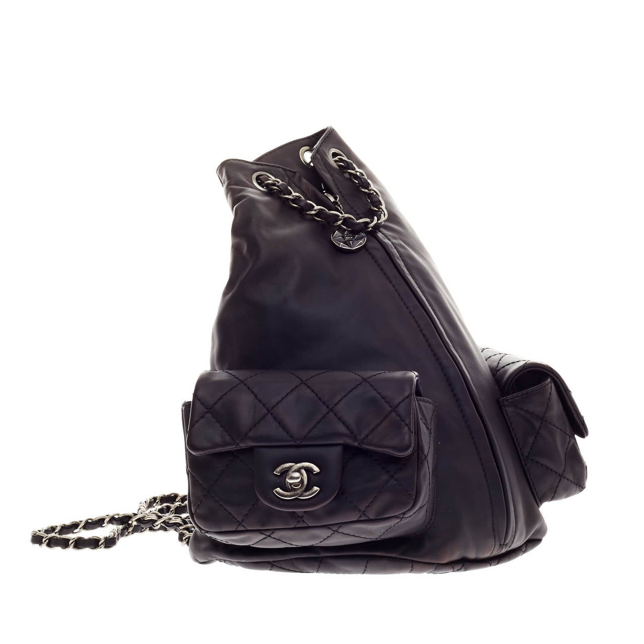 1cdcf318f71c Chanel Backpack Is Back Calfskin In Good Condition For Sale In New York