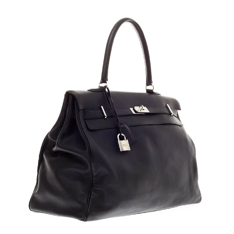 Hermes Kelly Relax Veau Sikkim 50 at 1stdibs