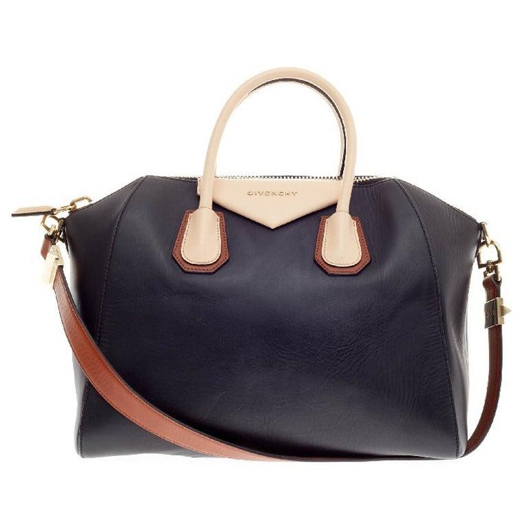 44bb086392f6 Givenchy Antigona Bag Leather Tricolor Medium at 1stdibs