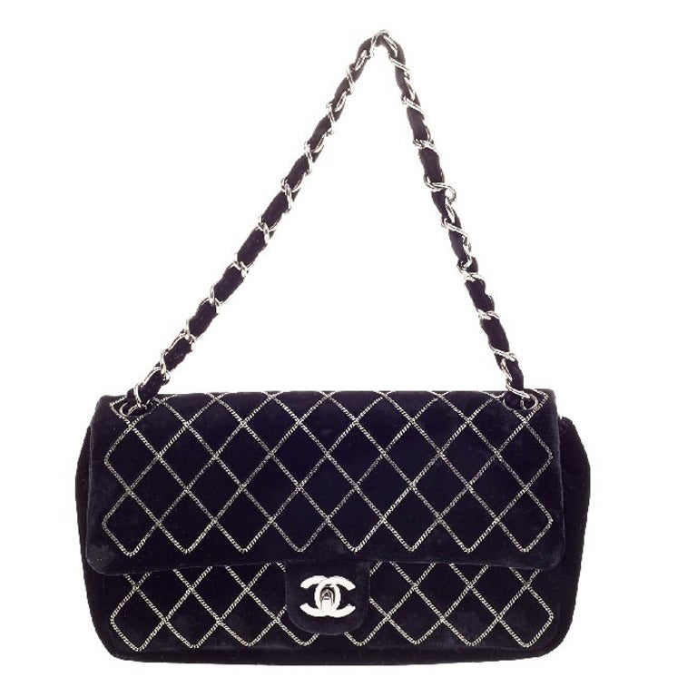 Chanel Chain Stitch CC Flap Velvet at 1stdibs fb8d2ce105