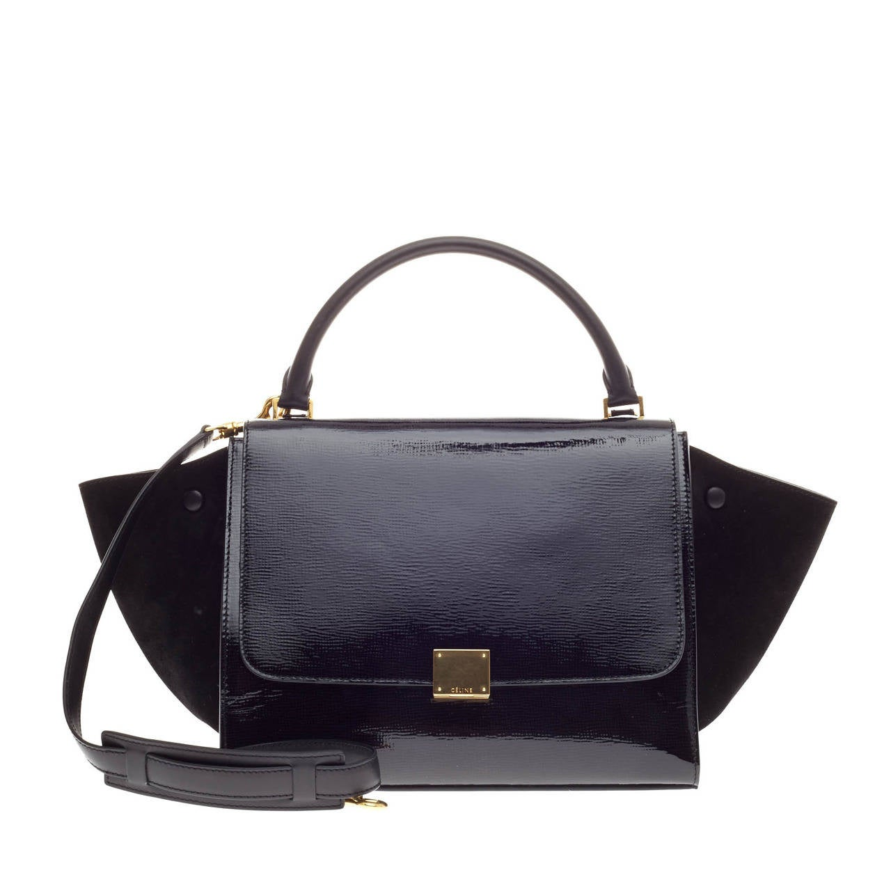 f2c845dede Celine Trapeze Patent Medium at 1stdibs