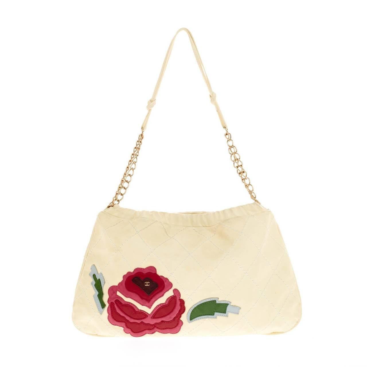 chanel camellia shoulder bag patchwork at 1stdibs