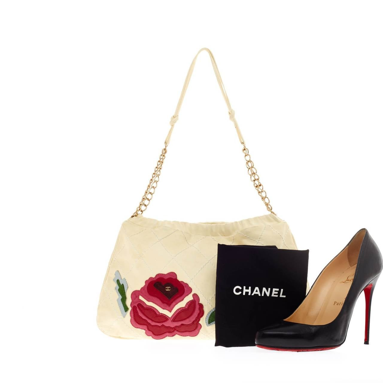 chanel camellia shoulder bag patchwork at 1stdibs