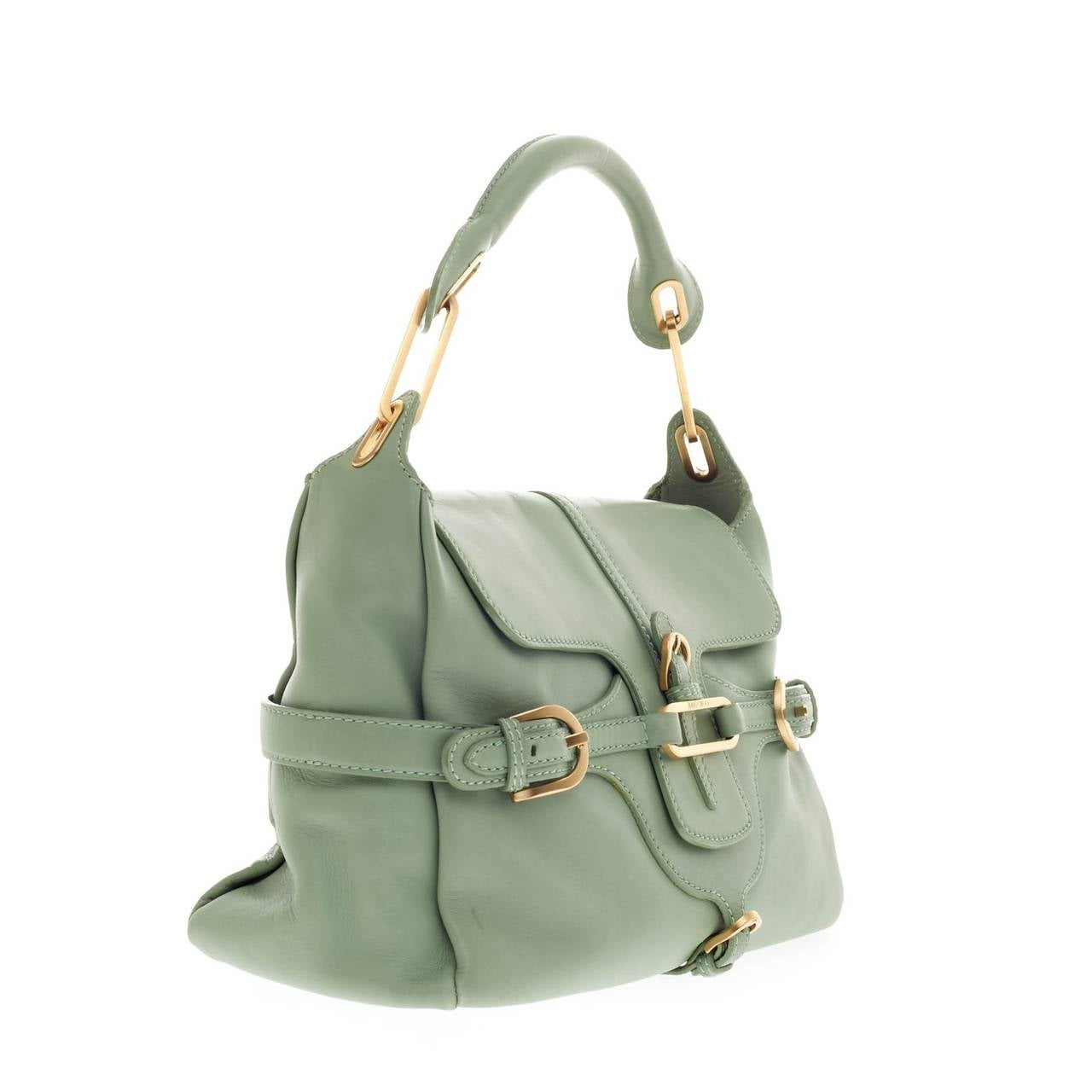 Jimmy Choo Tulita Shoulder Bag Leather In Good Condition For Sale In New York, NY