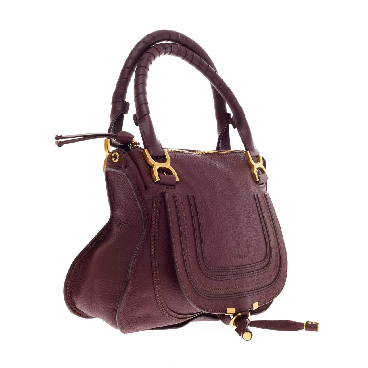 Chloe Marcie Top Handle Bag with Strap Leather Medium at 1stdibs