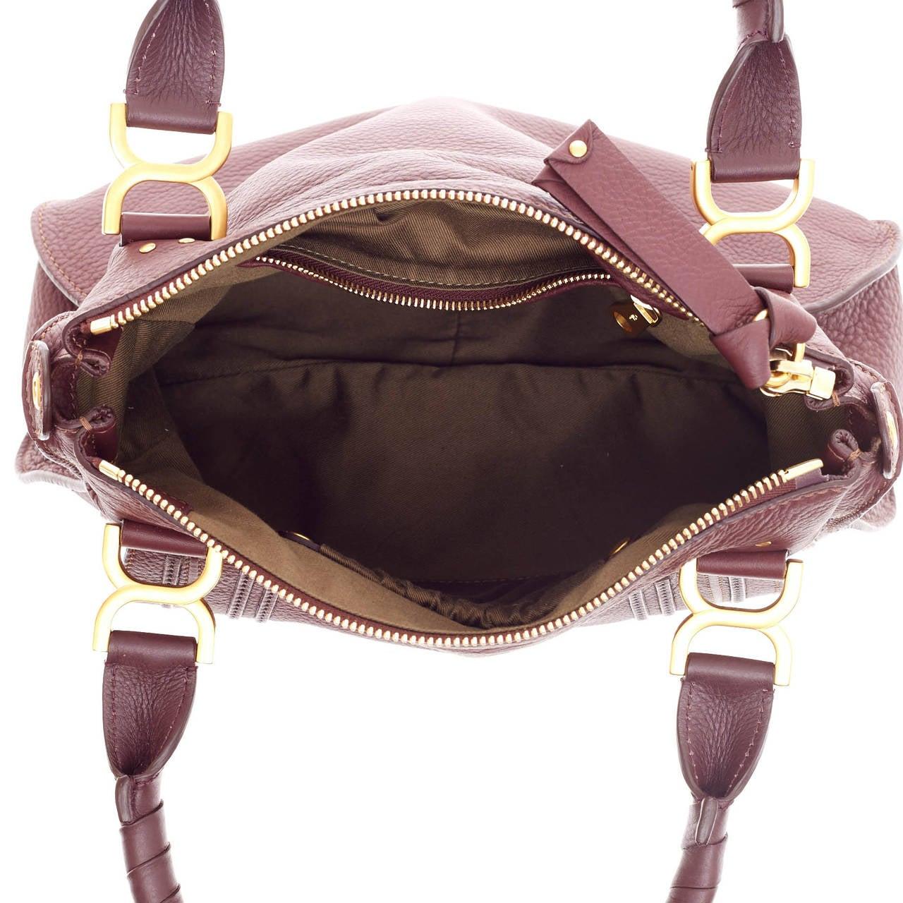 replica chloe - Chloe Marcie Top Handle Bag with Strap Leather Medium at 1stdibs