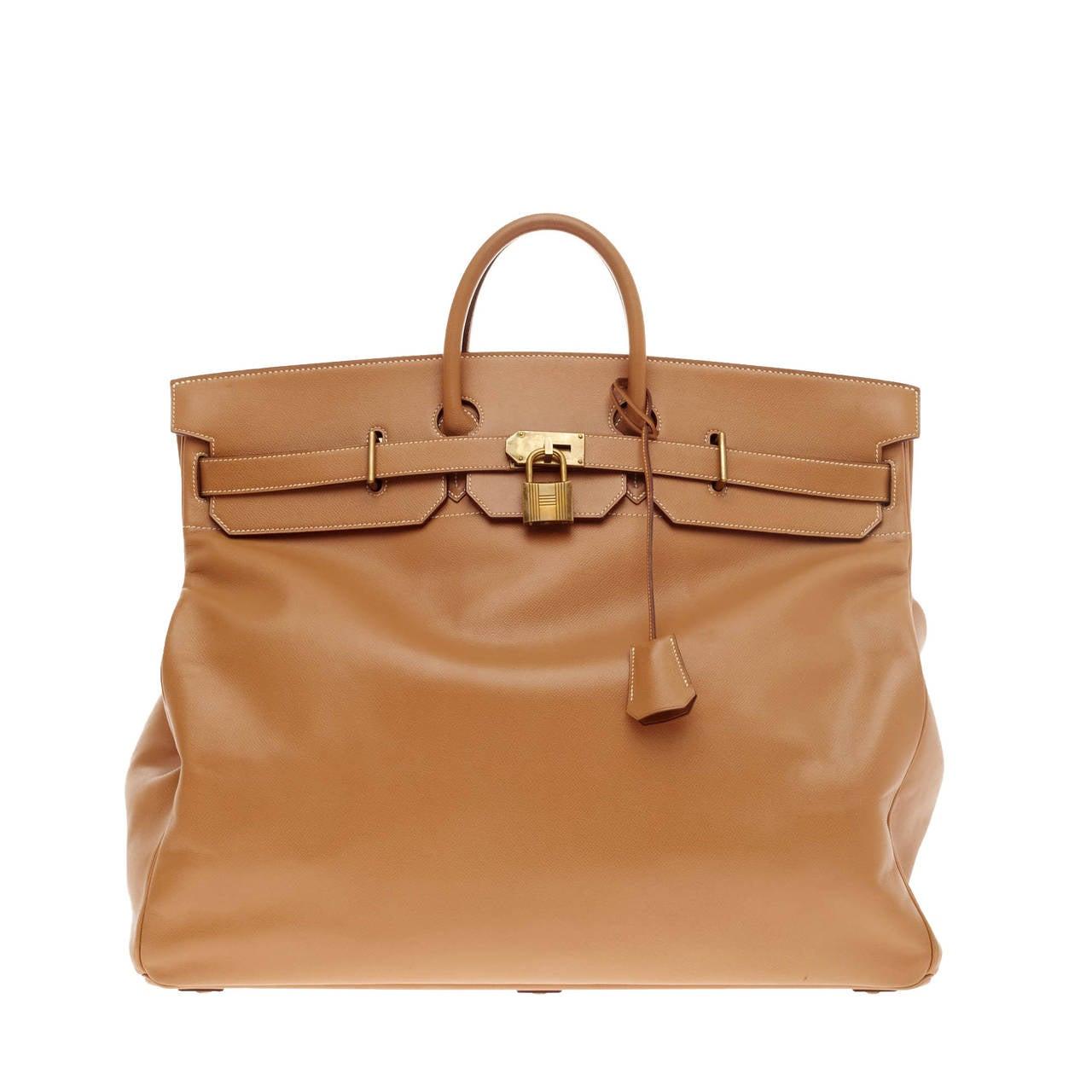 Hermes Birkin HAC Gold Veau Courchevel leather with Brass Hardware ... a6b42820e8e97