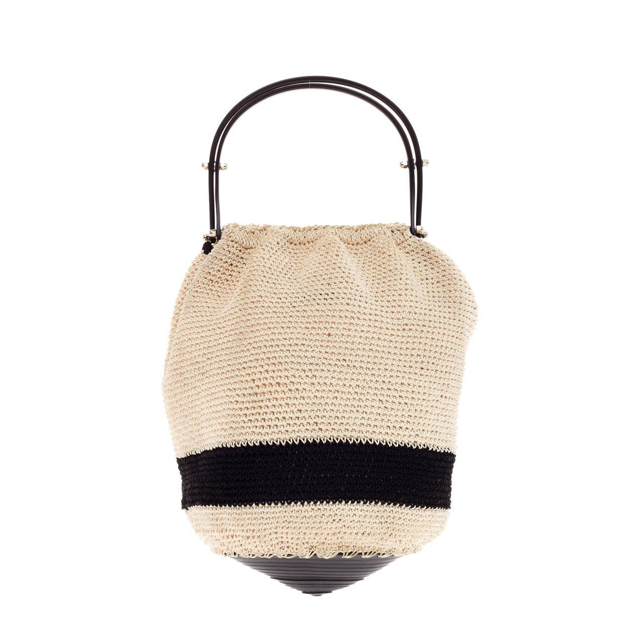Crochet Bucket Bag : Chanel Top Handle Bucket Bag Crochet For Sale at 1stdibs