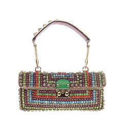 Valentino Rockstud Shoulder Bag Crystal Encrusted