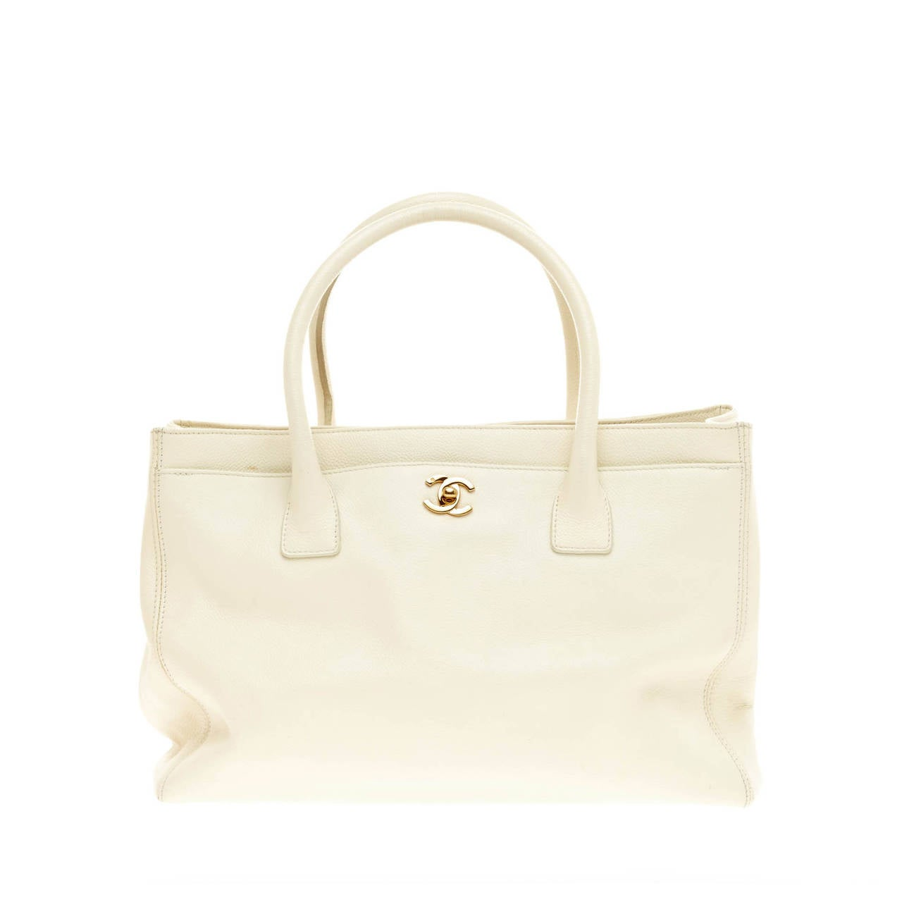 Chanel Cerf Executive Tote Leather Medium 1