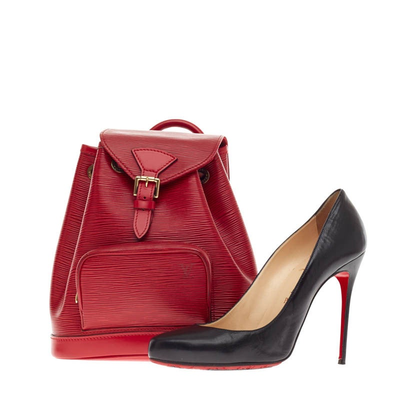 Louis Vuitton Backpack Montsouris Epi Leather PM 2
