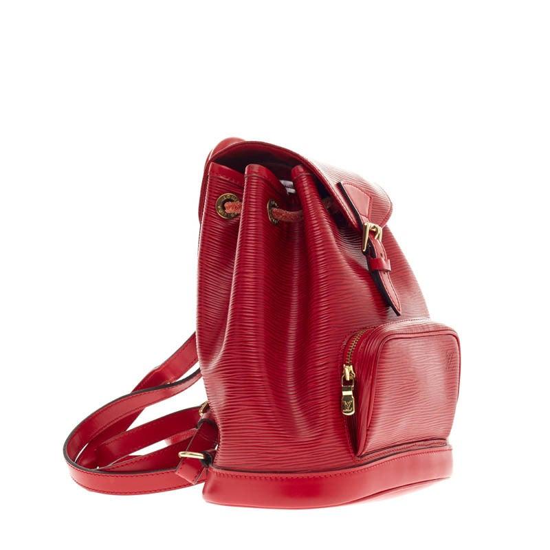 Louis Vuitton Backpack Montsouris Epi Leather PM 3