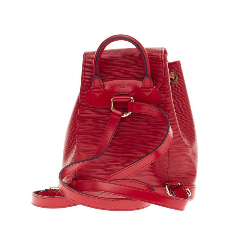 Louis Vuitton Backpack Montsouris Epi Leather PM 4