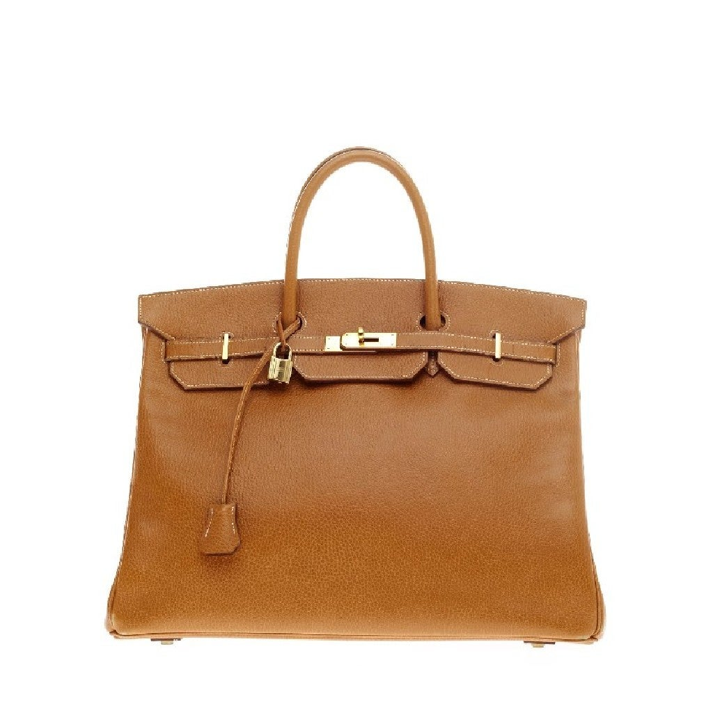 Hermes Birkin Natural Ardennes with Gold Hardware 40 1