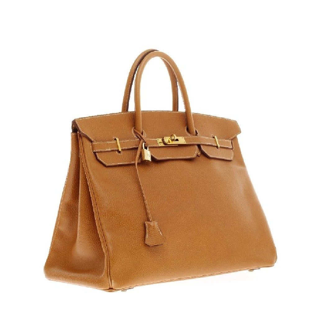 Hermes Birkin Natural Ardennes with Gold Hardware 40 3