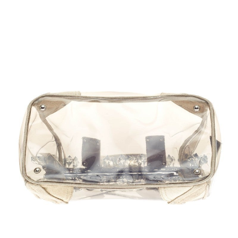 prada suede bags - Prada Mistolino Crystal Tote Vinyl and Canvas at 1stdibs