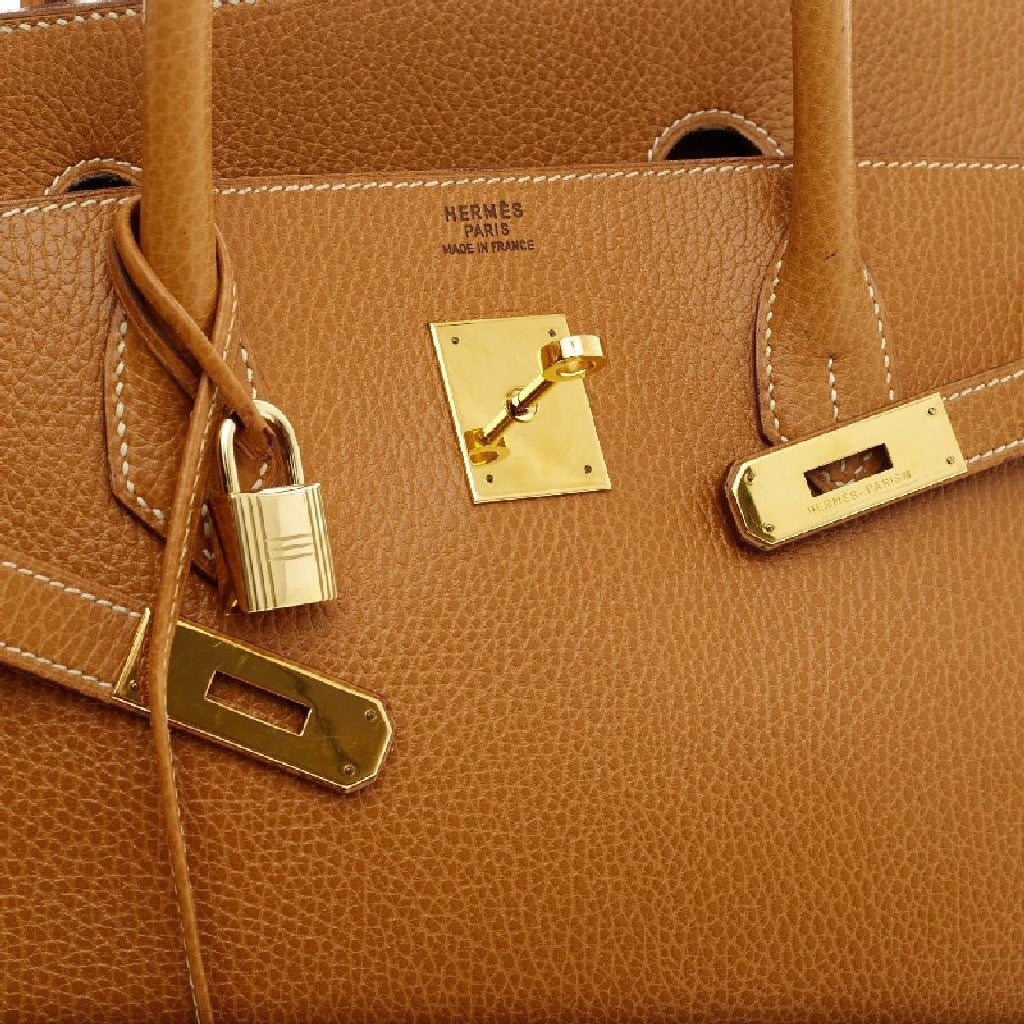 Hermes Birkin Natural Ardennes with Gold Hardware 40 7