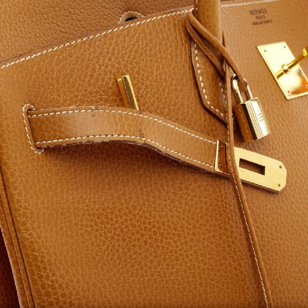 Hermes Birkin Natural Ardennes with Gold Hardware 40 8