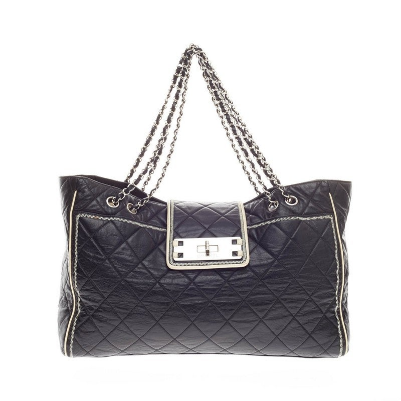 1906aa4d47ec Chanel Reissue East West Tote Quilted Lambskin Large at 1stdibs