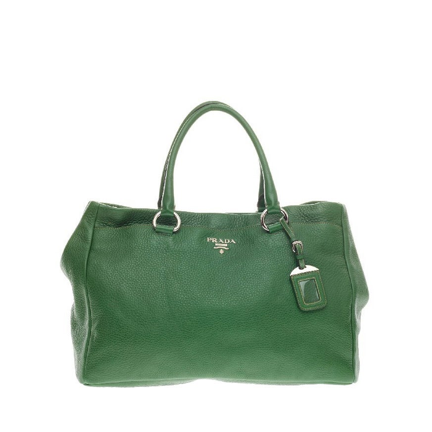 65298788dd396 Prada East West Tote Pebbled Vitello Daino at 1stdibs